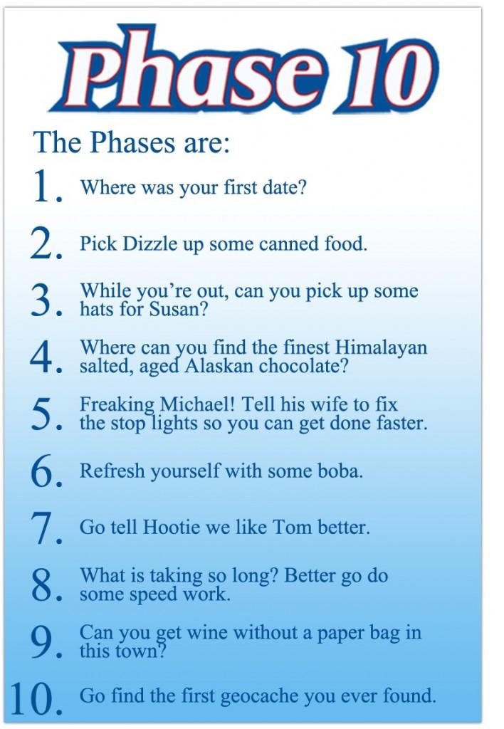 Creative Proposal Idea Phase 10 Card