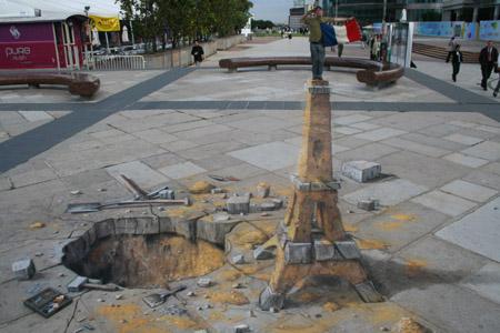 Eiffel Tower Sidewalk Art Proposal