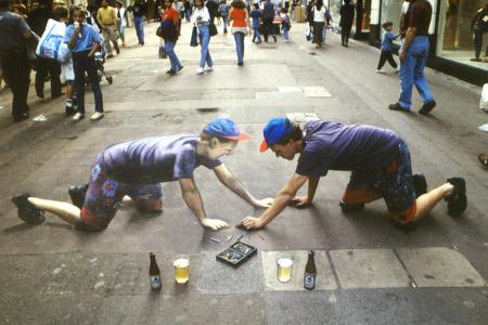 Sidewalk Art Marriage Proposal