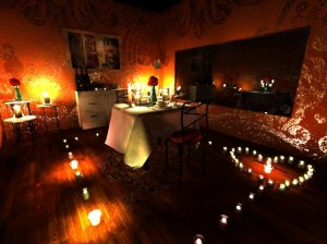 romantic proposal with candles