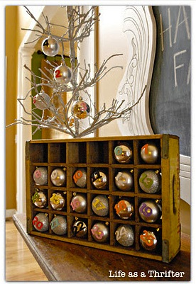 Repurposed Wood Advent Calendar